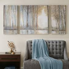 madison park forest reflections canvas wall art 3 piece set on framed 10 silver squares wall art with canvas art wall decor home decor kohl s