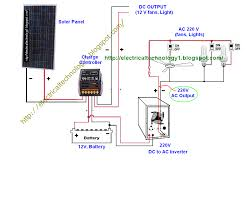 wire solar panel to 220v inverter 12v battery 12v dc load inside vespa px wiring loom diagram at No Battery Wiring Diagram