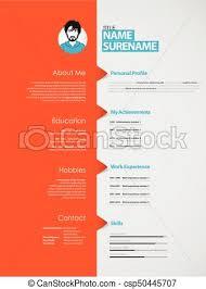 Creative Curriculum Vitae Template With Orange Stripe