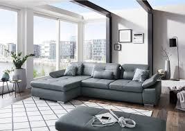 Wohnlandschaft In Leder Grau In 2019 Sofas Couches