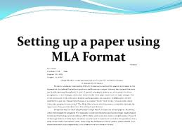 mla format for a essay setting up a paper using mla format