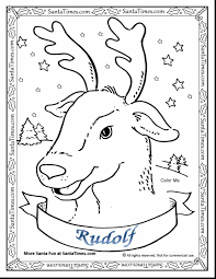 Small Picture Pages With Santaus Reindeer Printable Rudolph Coloring Reindeer
