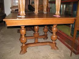 2100 00 48 square oak table 5 legs with claw feet 1450 00