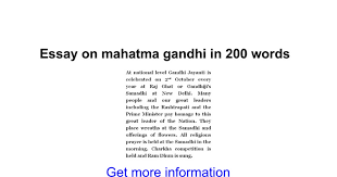 essay on mahatma gandhi in words google docs