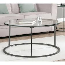 round glass top metal coffee table ping great deals on sofa end tables black ov