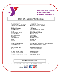Corporate Membership List Union County Family Ymca Union County
