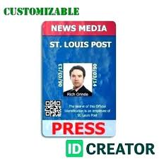 Press Id Card Template Personal Identification Templates For