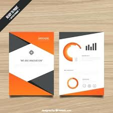 Single Page Brochure Template Free With Orange Elements