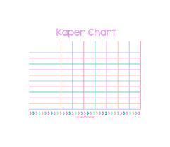 Junior Kaper Chart Printable Kaper Chart Printable Daisy Girl Scouts Girl Scout