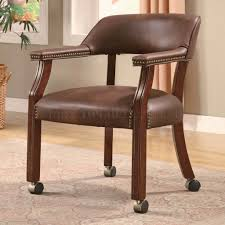 nailhead executive office chairs within popular brown vinyl traditional office chair w casters nailhead