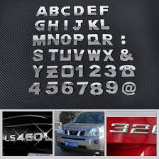 car letter decals 40 3d car diy metallic alphabet letter number emblem badge decals
