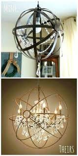 diy orb chandelier crystal orb chandelier inspired by restoration hardware diy wood orb chandelier diy metal