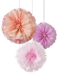 Pom Pom Decorations Blush Flower Pom Poms Tissue Paper Flower Party Decorations