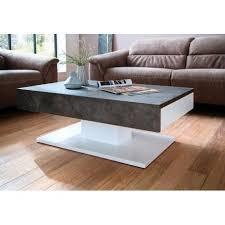 atena white coffee table with concrete
