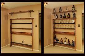 custom made custom shelf unit for bar memorabilia