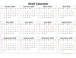 2018 calendar 2017 printable calendar