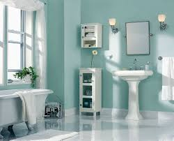 Accent Wall Bathroom Turquoise Accents Wall Painted For Bathroom Design Idea Using