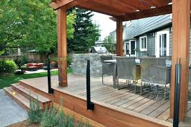 deck hand rails with no glass railing in and without height code california