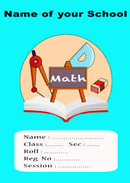 Holiday Homework Cover Page Design Maths Project Cover Kalde Bwong Co