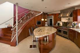 cherrywood kitchen designs. example of a trendy single-wall kitchen design in orange county with granite countertops, cherrywood designs t