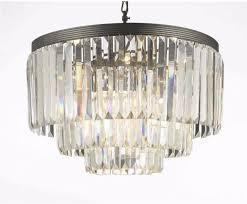 crystal glass fringe three tier shade chandelier stylish home decor new