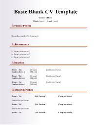 Blank Resume Template 19