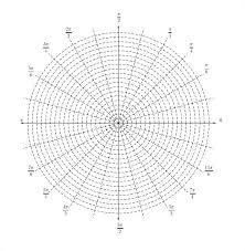 Polar Graphing Paper Free Printable Polar Graph Paper Polar