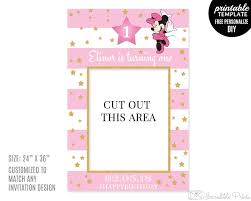 printable frame templates minnie mouse photo prop template printable birthday photo prop