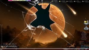 free office wallpaper pc. Planet Broken Screen Wallpaper Photo Free Office Pc