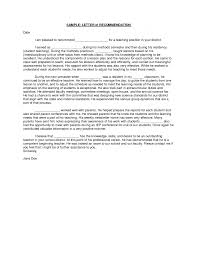 A Letter Of Recommendation Example New Example Letter Recommendation Teacher Sample Student