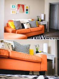 office couch ikea. Orange Ikea Sofa Home Living Room Ideas Spaces Media Rooms Couch Office