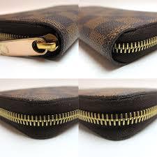 louis vuitton zip purse. louis vuitton long wallet zipper a rank damier ebene n60015 zip louis vuitton men women purse