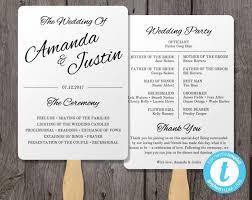 printable program templates printable wedding program fan template fan wedding program