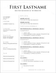 Free Printable Resumes Templates New Standard Resume Template Templates Download Word Format Free To
