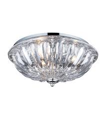 elk 31242 3 crystal 3 light 16 inch polished chrome flush mount ceiling light