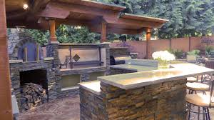 Outdoor Barbecue Kitchen Designs Built In Grill And Smoker Outside Bar Outdoor Kitchen With