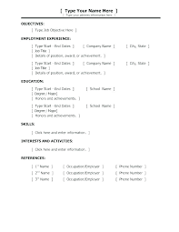 Examples Of Basic Resume Easy Resume Example Resume Examples ...