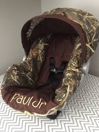 little duck hunting boy hunter camo infant baby car seat cover max4 fabric