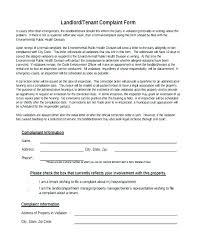 Complaint Letter To Landlord Template Noise Complaint Letter Template Landlord Homeish Co
