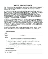 Noise Complaint Letter Template Landlord Homeish Co