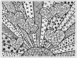 Heart Colouring Pages For Adults Printable Coloring Page For Kids