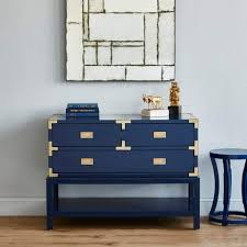 blue console table. Bungalow 5 - TANSU CONSOLE TABLE In NAVY BLUE Blue Hand Home Console Table