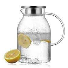 glass iced tea pitcher. Exellent Iced Lees Extrathick Glass Iced Tea Pitcher With Strainer For Fruit Infusions  58 OZ On I