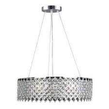 3 light crystal and chrome chandelier