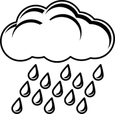 Small Picture Cloud With Rain Outline Clip Art at Clkercom vector clip art