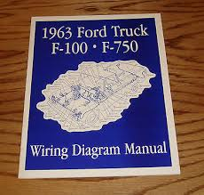 1963 ford thunderbird wiring diagram manual 63 9 00 picclick 1963 ford truck f100 f750 wiring diagram manual 63 pickup