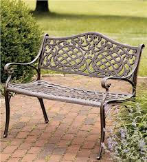 Unique Steel Benches Outdoor Well Suited Ideas Outdoor Garden Garden Metal Bench
