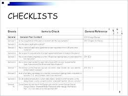 Quality Checklist Samples Templates Word Quality Checklist