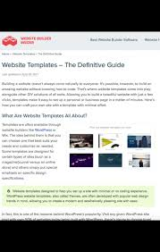 Template Websites Simple Creating A Site Using Website Templates A Definitive Guide