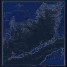 Nautical Chart Buzzards Bay Ma Amazon Com Vintography Blueprint Style 18 X 24 Reprint Of